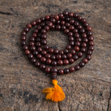 Tibetan Buddhist Rose Wood Prayer Mala Beads