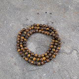 Tiger Eye Buddhist Prayer Mala Beads