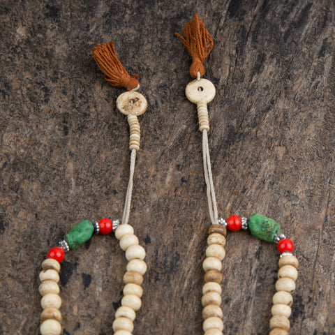 Antique Tibetan Bone Prayer Mala Beads