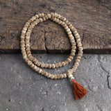 Special Tibetan Bone Prayer Mala Necklace