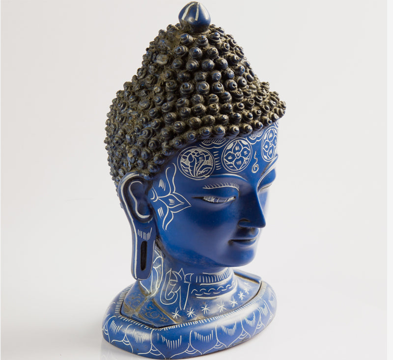 Resin Buddha Head Statue