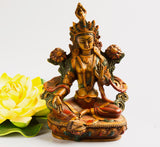 Antique green tara statue resin