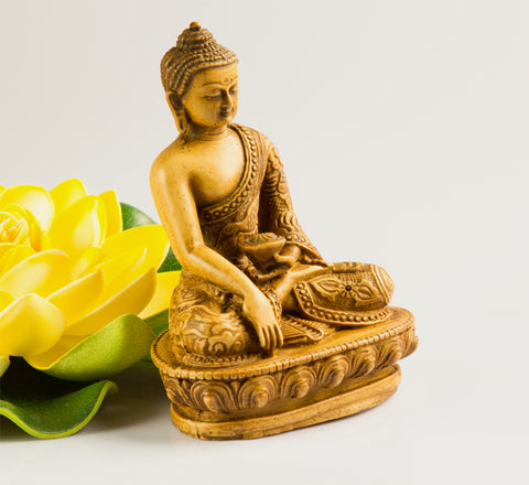 Small meditation buddha resin statue