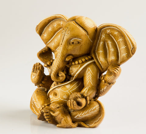 White Ganesh Statue Resin