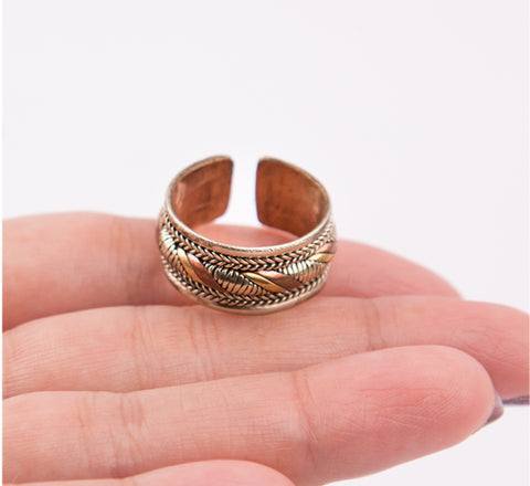 Antique Style 3 Metal Midi Finger Ring Knuckles