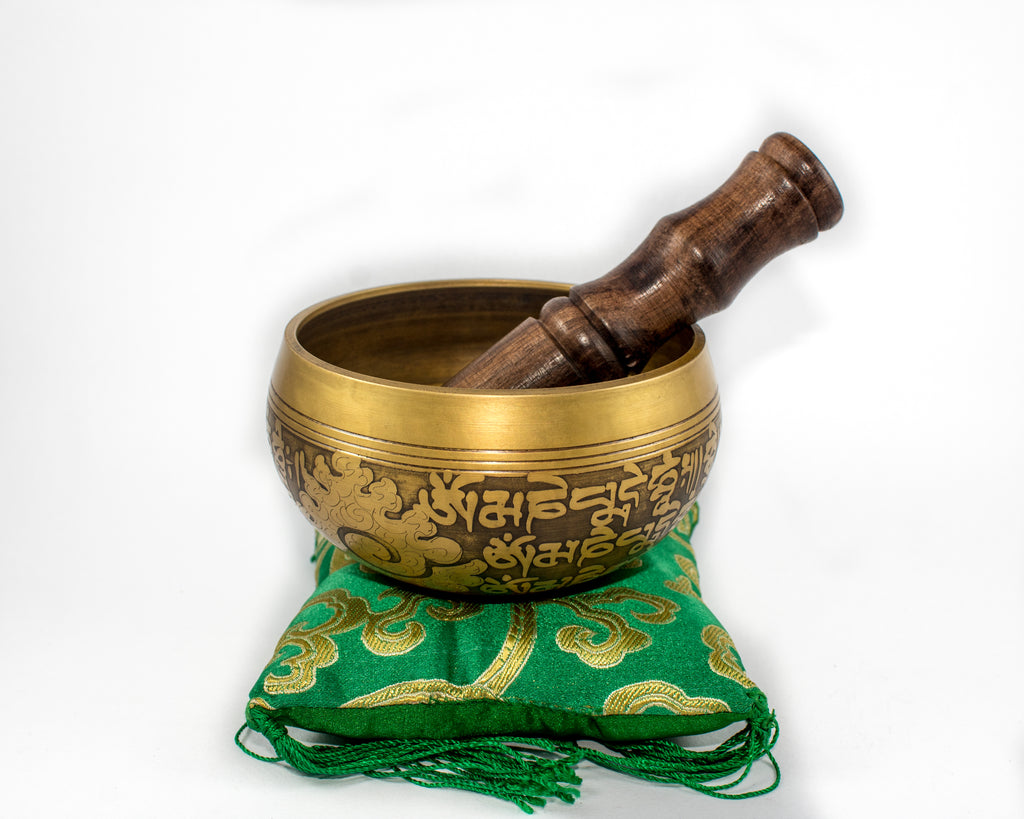 Yoga Chakra Singing Bowl Tibetan Buddhist Brass Medtation ~Healing ~Hammered