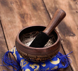 Special Etching Tibetan Handmade Singing Bowl