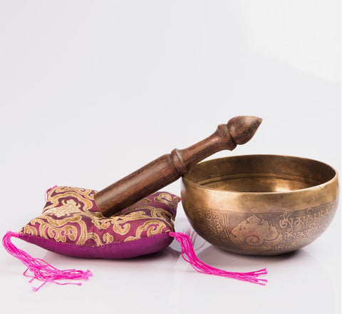 Authentic Handmade Tibetan Singing Bowl Special for Healing ~Free Shipping