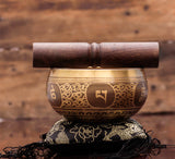 Tibetan Brass Singing Bowl Handmade in Nepal by Local Craftsman