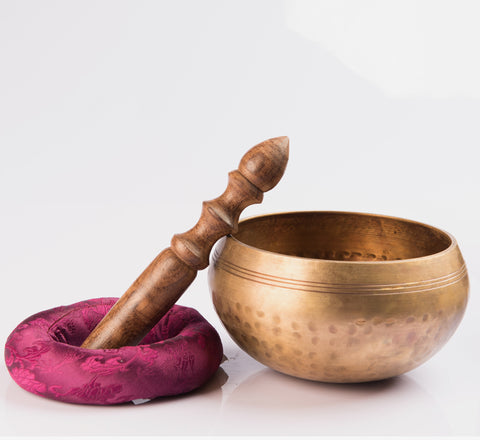 Tibetan Hand Hammered Singing Bowl for Meditation & Chakra Healing - Handmade in Nepal