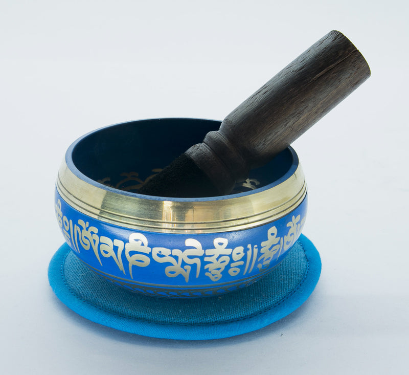Nepal Handmade Blue Tibetan Singing Bowl For Meditation and Sound Healing