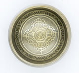 Tibetan Handmade Special Etching Bronze Singing Bowl for Sound Healing