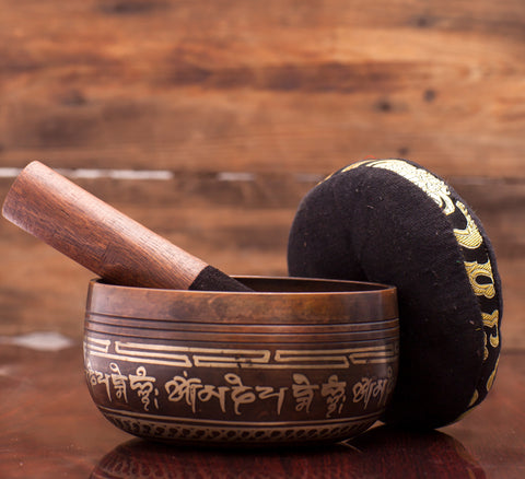 Handmade Tibetan Buddhist Antique Style Singing Bowl