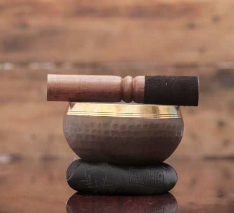 Hand Beaten Singing Bowl Black in Color Useful For Chakra Healing