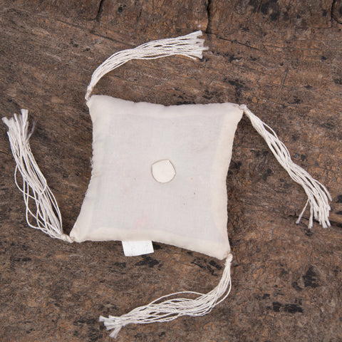 Tibetan Handmade Silk Square Cushion White