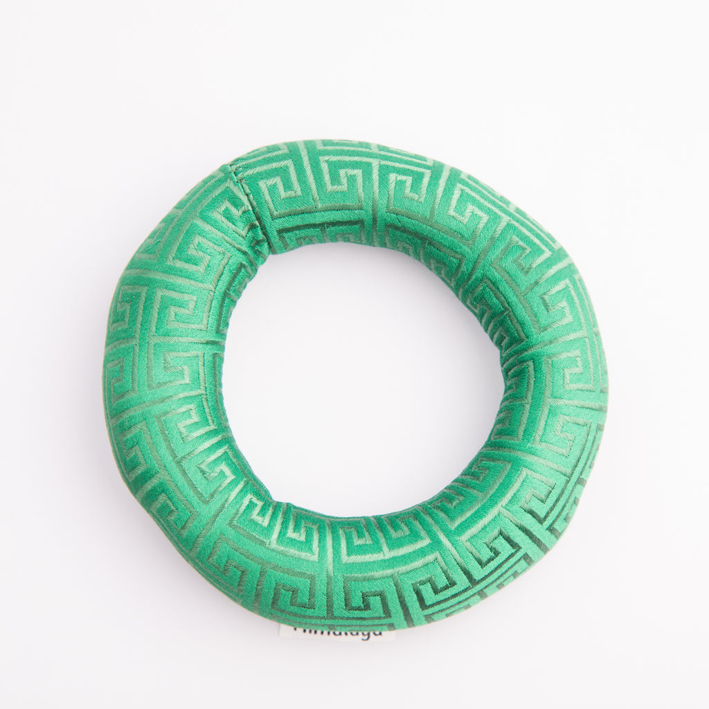 Tibetan Handmade Tibetan Fabric Singing Bowl Embroid Cushion Green