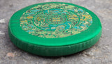 Tibetan Green Mandala Printed Singing Bowl Cushion