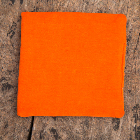 Beautiful Design Orange Square Singing Bowl Cushion