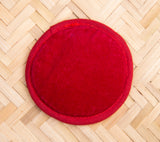 Ohm Knitted Red Singing Bowl Cushion 10 cm