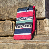 Multicolor Striped Shoulder Mobile Purse/Pouch