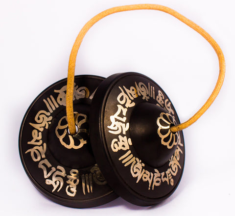 High Quality Special Mantra Etching Bronze tingsha cymbal