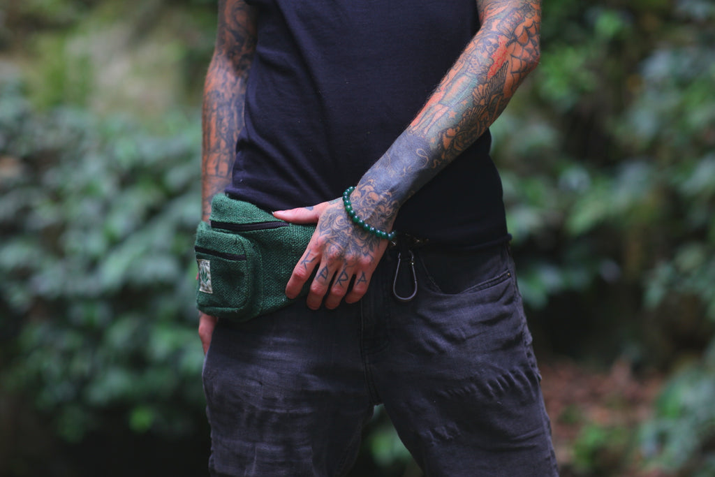 Durable Hemp Green Fanny Pack