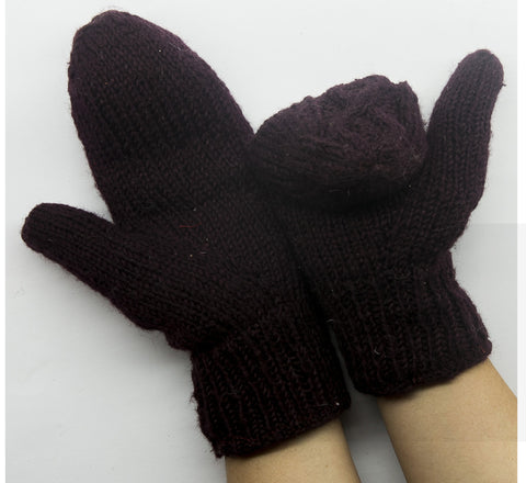 Brown Woolen Hand Gloves