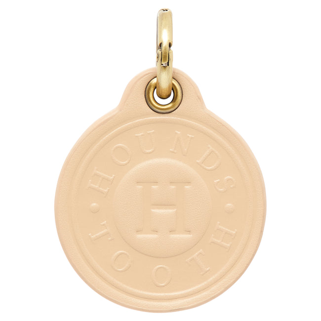 Leather Dog Tag - CREAM