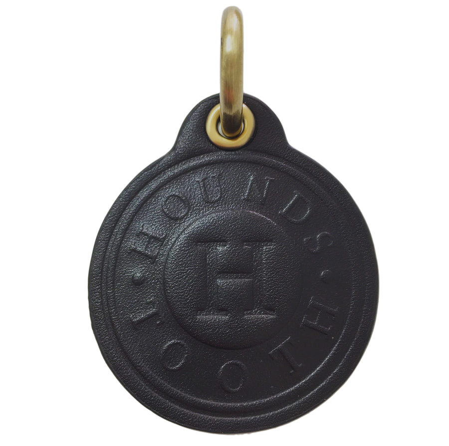 Leather Dog Tag - BLACK