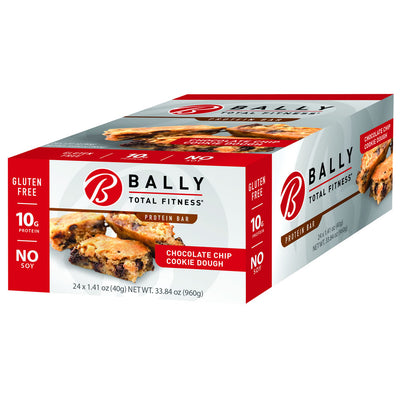 BALLY TOTAL FITNESS® Chocolate Chip Cookie Dough Protein Bar Box