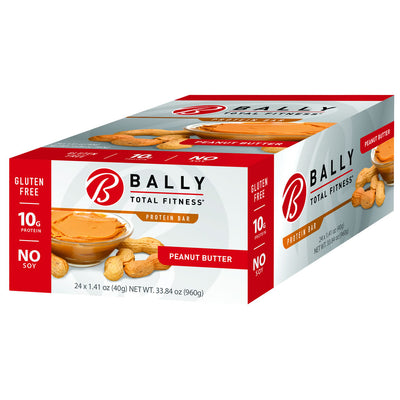 BALLY TOTAL FITNESS® Peanut Butter Protein Bar Box