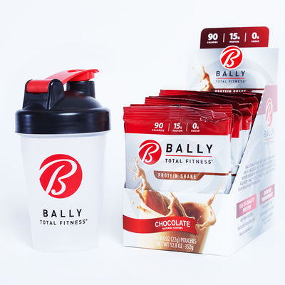 BALLY TOTAL FITNESS® 12oz Shaker Cup w/ Protein Shake Box