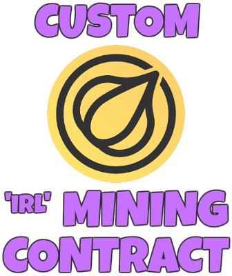 Custom IRL Garlicoin Mining Contract - Any GRLC Amount