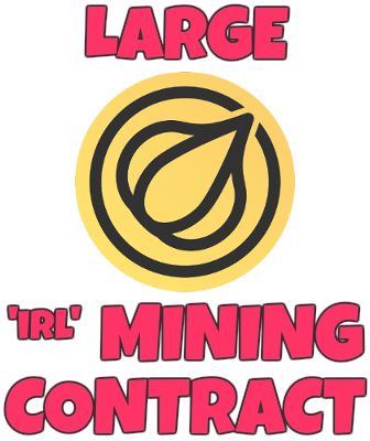 Large IRL Garlicoin Mining Contract