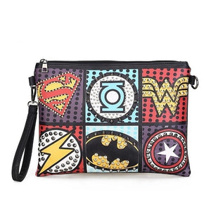 Superhero Gothic Pu Leather Envelope Bag