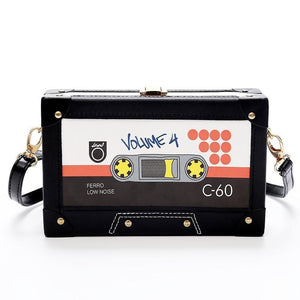 Retro Tape Style Box Clutch Crossbody Messenger Bag