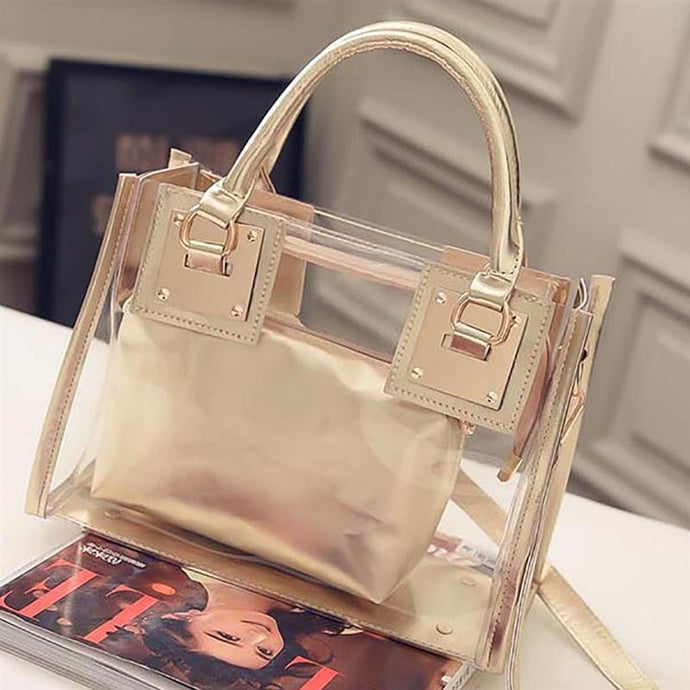 2 Piece Transparent Shoulder Bag