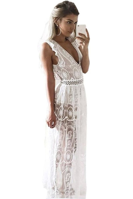 Lacey Spring High Waist Maxi Dress