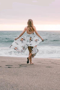 Boho Flower Print Summer Dress