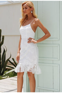 Elegant Lace Ruffle Dress