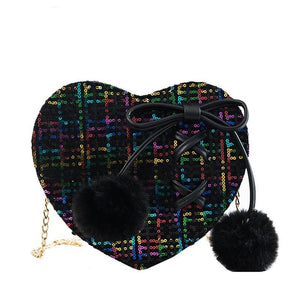 Heart-Shaped Bow Ladies Chain Purse