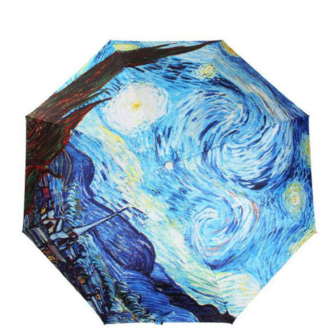 "Umbrella Fine Art Design ""Starry Night"" by Van Gogh"
