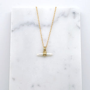 Keshi pearl pendant necklace