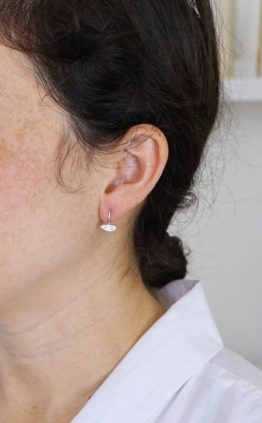 Textured bar drop earrings-single