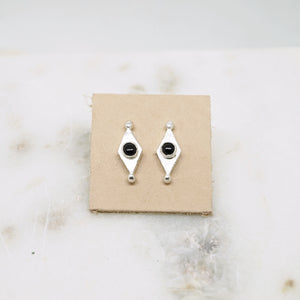 Mini shield studs with Onyx