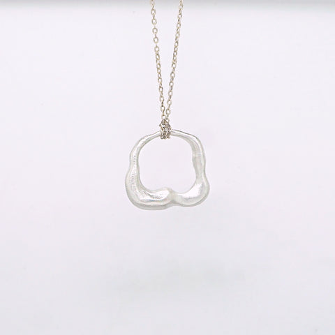 Abstract hole necklace