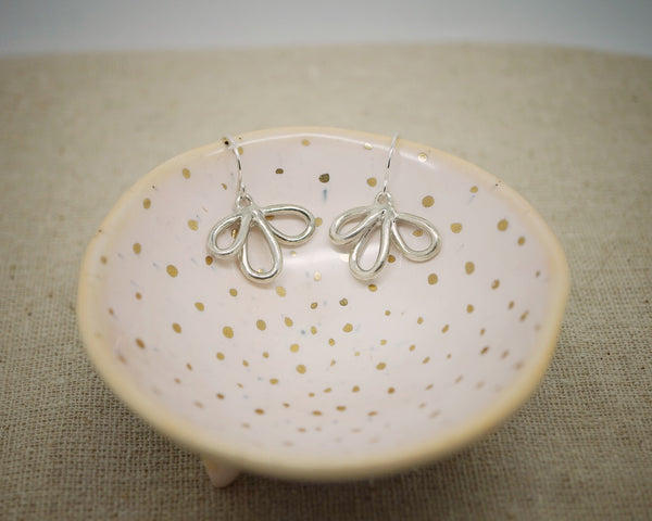 Silver loop earrings