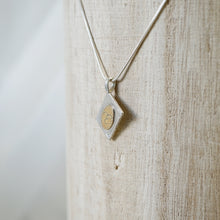 Load image into Gallery viewer, Initial book pendant necklace-14k gold & silver