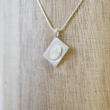 Load image into Gallery viewer, Initial book pendant necklace-silver & silver