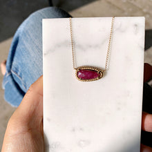 Load image into Gallery viewer, Soleil Pendant Necklace with Ruby in 14k gold